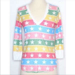 •WILDFOX• Leroy Thermal Rainbow Stripes Stars